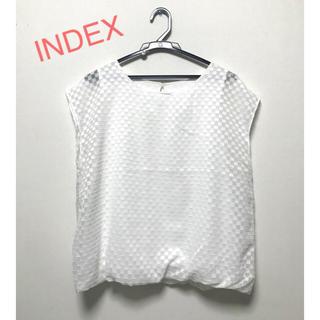 インデックス(INDEX)のindex  重ね着風プルオーバー L(カットソー(半袖/袖なし))