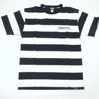 ショット(schott)のSchott ショット  ボーダー ポケットTシャツ ホワイト×ブラック(Tシャツ/カットソー(半袖/袖なし))