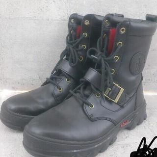 ポロラルフローレン(POLO RALPH LAUREN)のラルフローレン レザー ブーツ アンクルブーツ 黒 27.5 28cm(ブーツ)