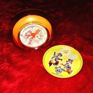 チップアンドデール(チップ&デール)のチップとデールお皿時計セット(キャラクターグッズ)