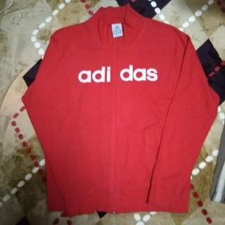 アディダス(adidas)の正規物adidas赤の上着(トレーナー/スウェット)