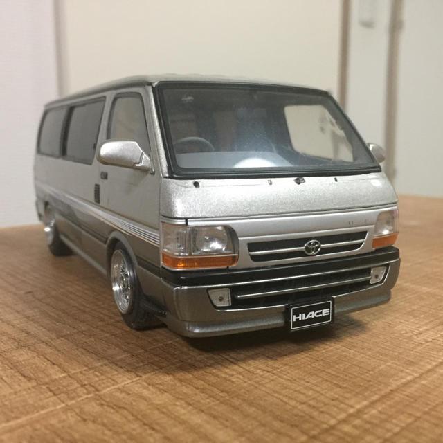 AOSHIMA(アオシマ)のハイエース アオシマ ミニカー 1/24 エンタメ/ホビーのおもちゃ/ぬいぐるみ(ミニカー)の商品写真