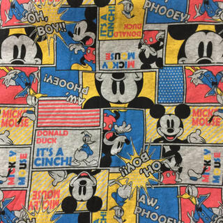ディズニー(Disney)のディズニーミッキードナルド薄手トレーナー生地(生地/糸)