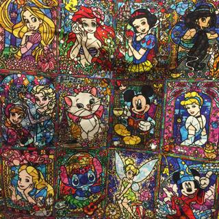 ディズニー(Disney)のディズニーステンドグラス風ニット生地(生地/糸)