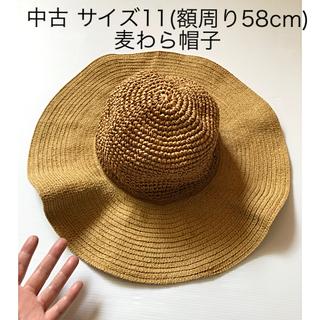 UNIQLO - 中古 UNIQLO サイズ11(額周り58cm) 麦わら帽子