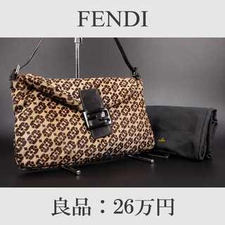 フェンディ(FENDI)の【全額返金保証・送料無料・良品】フェンディ・ショルダーバッグ(ハラコ・B089)(ショルダーバッグ)