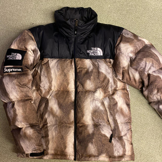 Supreme - 13FW Suprene North Face Fur print Nuptse