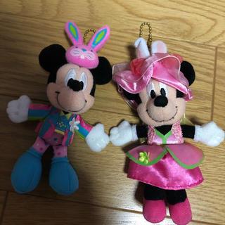 ディズニー(Disney)のディズニーランド イースター ミッキー  ミニー キーホルダー(キーホルダー)