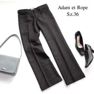 Adam et Rope' - アダムエロペ★グレンチェック柄 セミワイドパンツ ウール 36(S) グレー