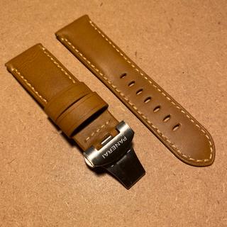 PANERAI 汎用品 交換用 レザーベルト ブラウン 24mm(レザーベルト)