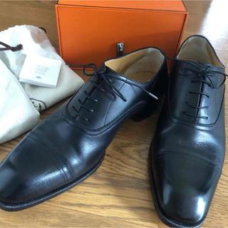 Hermes - HERMES ストレートチップ ビジネスシューズ 革靴 黒