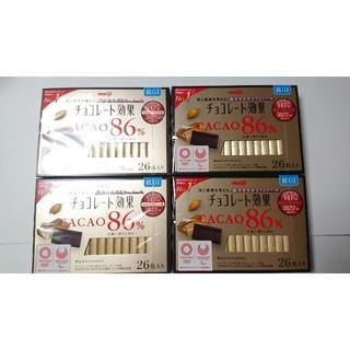 明治 チョコレート効果86% 26枚入×4箱セット(菓子/デザート)