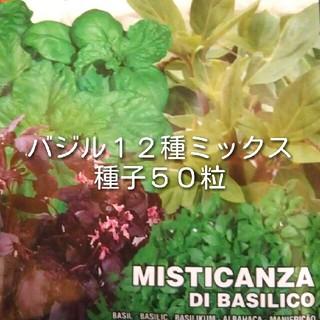 バジル種子 12種ミックス 50粒以上(野菜)
