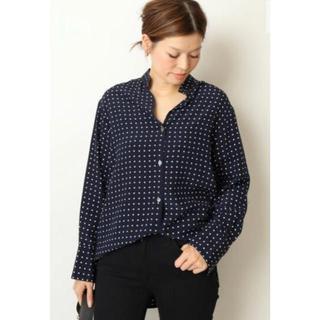 ドゥーズィエムクラス(DEUXIEME CLASSE)の(新品未使用)Deuxieme Classe シルクバンドカラーシャツ(シャツ/ブラウス(長袖/七分))