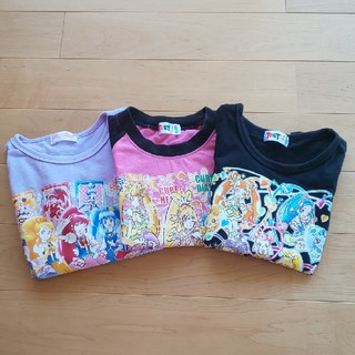女の子 110cm Tシャツ まとめ売り 3点セット 長袖 半袖 プリキュア(Tシャツ/カットソー)