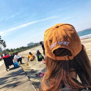 スタンダードカリフォルニア(STANDARD CALIFORNIA)の夏コーデ☆LUSSO SURF スウェード刺繍キャップ 帽子 RVCA(キャップ)