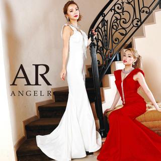 エンジェルアール(AngelR)のロングドレス タイト ノースリーブ フリル チョーカー  ホワイト 白(ロングドレス)