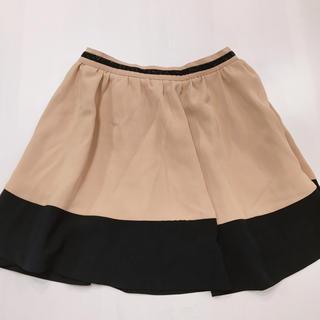 イング(INGNI)のツートンカラー ベージュ 黒 ミニスカート(ミニスカート)