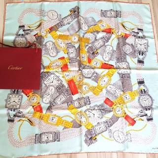 カルティエ(Cartier)の専用です、カルティエのスカーフ、時計柄(バンダナ/スカーフ)