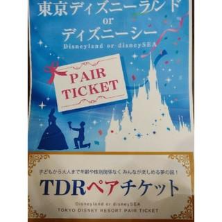 ディズニー(Disney)の東京ディズニーランドorディズニーシー 1dayパスポート×2枚 引換券(遊園地/テーマパーク)