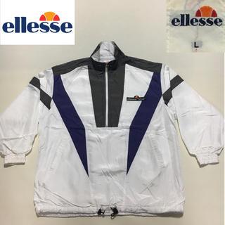 エレッセ(ellesse)の90sエレッセ アノラック ナイロン ジャケット ホワイト Lサイズ (ウェア)