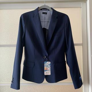 アオキ(AOKI)の新品♡オンリー♡スーツ♡ジャケット♡11号♡紺ストライプ♡春夏(スーツ)