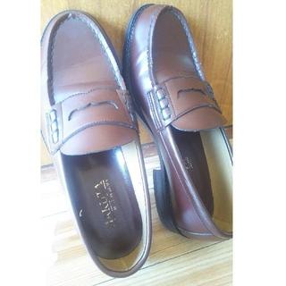 ハルタ(HARUTA)のハルタ ローファー  ブラウン  24.5  3E(ローファー/革靴)