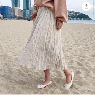 dholic - 韓国 ドット プリーツスカート