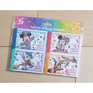 Disney - ディズニー・チケット風   メモ帳セット