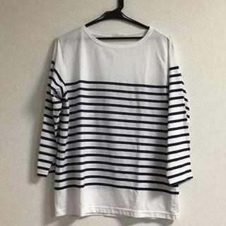 ジーユー(GU)のメンズ 七分袖 ボーダーTシャツ(Tシャツ/カットソー(七分/長袖))