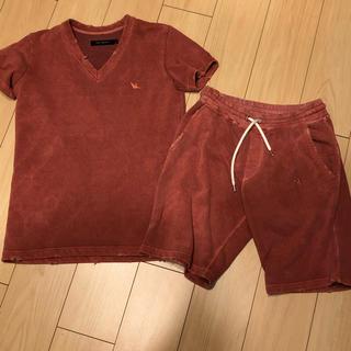 ウノピゥウノウグァーレトレ(1piu1uguale3)の1piu1uguale3 ダメージ加工 セットアップ AKM wjk ウノピュウ(Tシャツ/カットソー(半袖/袖なし))
