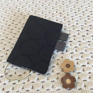 ミナペルホネン(mina perhonen)のほぼ日手帳カバー オリジナルサイズ ミナペルホネン  タンバリン ネイビー使用(ブックカバー)