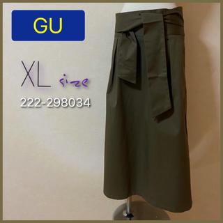 GU - GU ジーユー チノベルト付き ハイウエスト スカート