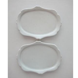 広瀬佳子 洋皿 M 2枚 14cm×19cm(食器)