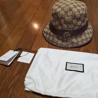グッチ(Gucci)のGUCCI ハット 帽子 GGキャンバス フェドラハット(ハット)