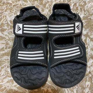 アディダス(adidas)のアディダス サンダル 21 cm adidas 黒 ブラック(サンダル)