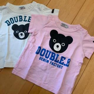 DOUBLE.B - ミキハウスダブルB 半袖Tシャツ二枚セット