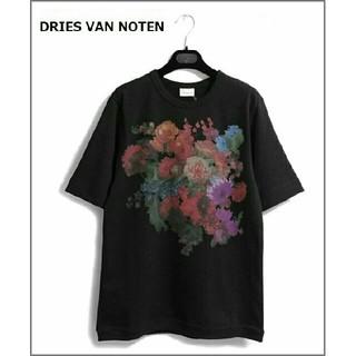 ドリスヴァンノッテン(DRIES VAN NOTEN)の新品★20SS ドリスヴァンノッテン 今季 フラワープリントTシャツ 黒 メンズ(Tシャツ/カットソー(半袖/袖なし))