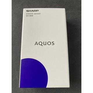 SHARP - 【新品】SHARP AQUOS sense2 SH-M08  ニュアンスブラック