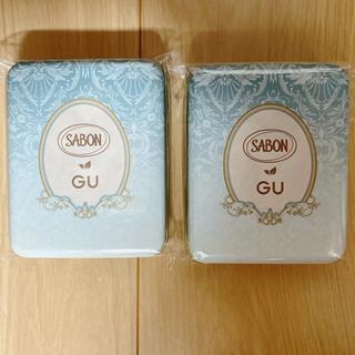 サボン(SABON)のGU ×SABONノベルティ:オリジナル缶ケース【2個】値下いたしました(ノベルティグッズ)