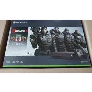 エックスボックス(Xbox)のXBOX ONE X GEARS 5 同梱版(家庭用ゲーム機本体)