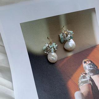 アガット(agete)のlight blue pearl (ピアス)
