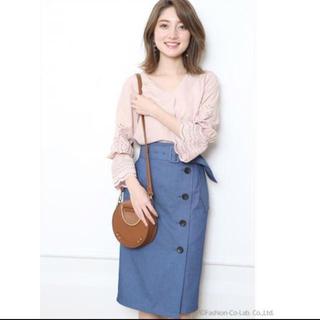 ジャスグリッティー(JUSGLITTY)の美品✨ジャスグリッティー トレンチタイトスカート♡ダスティ(ひざ丈スカート)