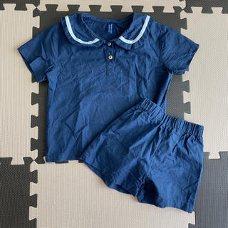 セーラー風トップスボトムセット(Tシャツ/カットソー)