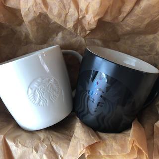 Starbucks Coffee - スターバックス ロゴマグ マグブラック 2個セット マグカップ マグ