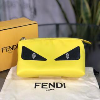 フェンディ(FENDI)のFENDI バグズアイ ポーチ イエロー フェンディ モンスター(ポーチ)