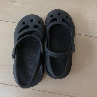 crocs - クロックス サンダル  黒 15.5センチ