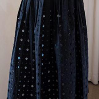 ミナペルホネン(mina perhonen)のミナペルホネン アネモネスカート ブラック 2019(ロングスカート)