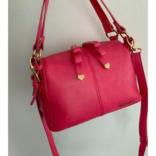 JILL by JILLSTUART - 売り切り価格♡ベリーピンクリボンノットバッグ