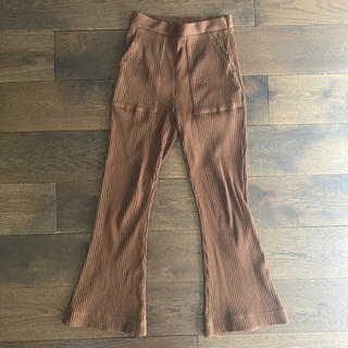 PHEENY RANDOM RIB FLARED PANTS ブラウン サイズ1